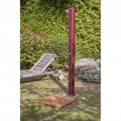 Base per doccia solare 60x60 - listelli imitazione legno - GRE SSB40