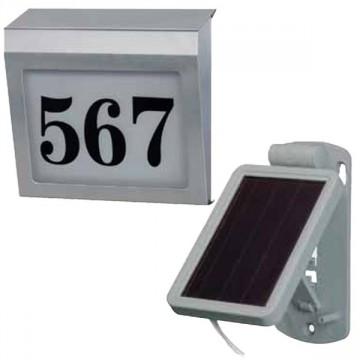 Numero civico illuminato Solar Power SH 4000 E con pannello solare esterno BRENNENSTUHL