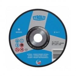 Disco da taglio per acciaio e acciaio inossidabile - mm.230x3,2x22,23 - TYROLIT Basic A30-BF