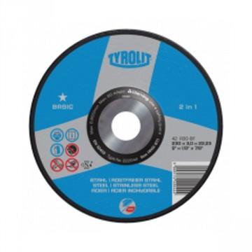 Disco da taglio per acciaio e acciaio inossidabile - mm.115x2,5x22,23 - TYROLIT Basic A30-BF