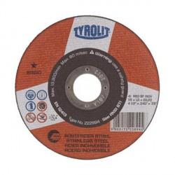 Mola troncatrice per acciaio inossidabile - mm.115x1,0x22,23 - TYROLIT Basic - A60R-BFINOX