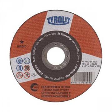 Disco da taglio per acciaio inossidabile - mm.230x2,0x22,23 - TYROLIT Standard** - A30R-BFINOX