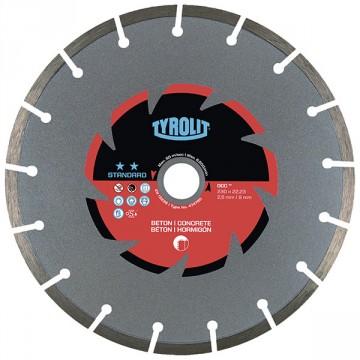 Disco da taglio a secco - mm.230x2,6x22,23 - TYROLIT Standard DCC** C3