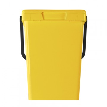 """Contenitore """"Minimax+"""" 25lt per raccolta dei rifiuti porta a porta - giallo - MATTIUSSI ECOLOGICA - A11157"""