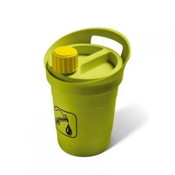 """Contenitore """"Olimax"""" 3lt per la raccolta differenziata dell'olio da cucina - verde - MATTIUSSI ECOLOGICA - A11733"""