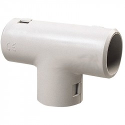 Curva a t ispezionabile e reversibile ⌀ 20 mm, grigio - ROSI RS16032