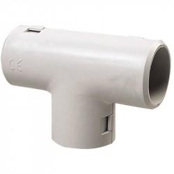 Curva a t ispezionabile e reversibile ⌀ 16 mm, grigio - ROSI RS16031