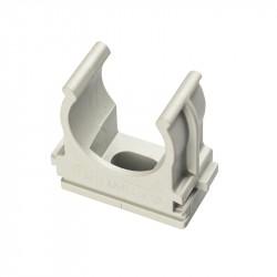 Clips fissatubo a scatto ⌀ 20 mm, grigio - ROSI RS16042