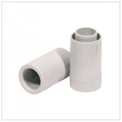 Raccordo diritto tubo/guaina ⌀ 20 mm, grigio - ROSI RS16820