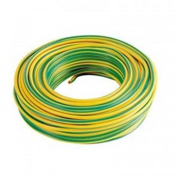 Cavo unipolare N07V-K flessibile - matassa da 100mt - 1X1,5mm2 giallo/verde -