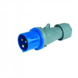 Spina mobile a bassa tensione 50/60Hz 200/250V 16A - 2P+T - ROSI 9213