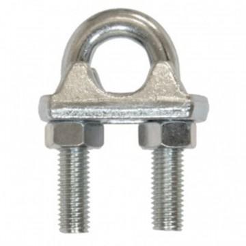Morsetti a cavallotto per fune in acciaio zincato M 6 - STAMPERIA CARCANO GIUSEPPE S00106