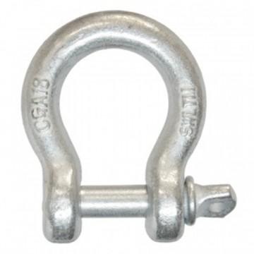 Grillo a cuore con perno occhio circolare in acciaio zincato MM 16 - STAMPERIA CARCANO GIUSEPPE S4716