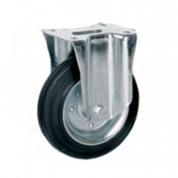 Ruota in gomma standard fissa con nucleo composto da due dischi in lamiera - 125x37,5 - TELLURE ROTA 535703