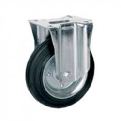 Ruota in gomma standard fissa con nucleo composto da due dischi in lamiera - 100x30 - TELLURE ROTA 535702