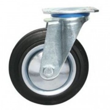 Ruota in gomma standard girevole con nucleo composto da due dischi in lamiera - 100x30 - TELLURE ROTA 535002