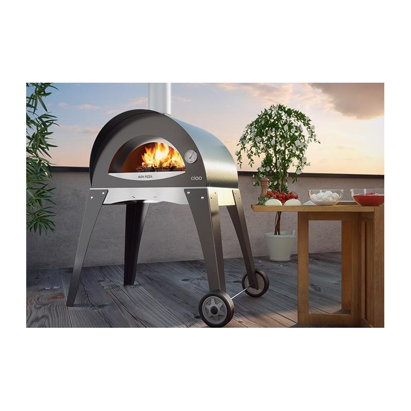 Forno a legna ciao s in acciaio inox alfa refrattari - Forno a legna in casa ...