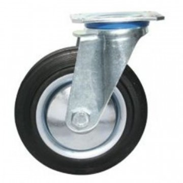 Ruota in gomma standard girevole con nucleo composto da due dischi in lamiera - 200x50 - TELLURE ROTA 535006