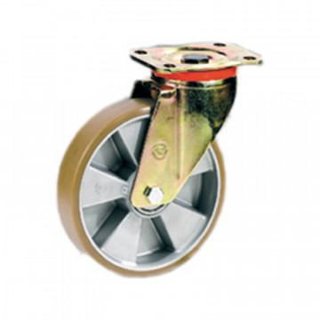 """Ruote in poliuretano """"TR"""" girevole con nucleo in alluminio - 200x50 - TELLURE ROTA 657606"""