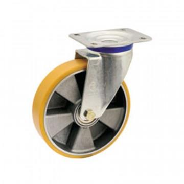 """Ruota in poliuretano """"TR"""" girevole con nucleo in alluminio - 150x40 - TELLURE ROTA 659604"""