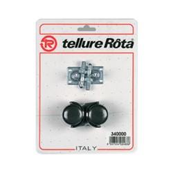 Ruote mobilio gemellate girevoli in poliammide 6 - 35x39 - TELLURE ROTA 340000