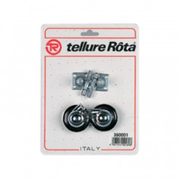 Ruote per mobilio semisferiche in gomma - diametro 45 - Blister 4 pezzi - TELLURE ROTA 350001
