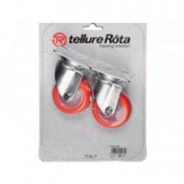 Ruote in poliuretano termoplastico con nucleo in poliammide 6 - 60x25 - Blister 2 pezzi - TELLURE ROTA 364003