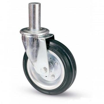 Ruota in gomma standard girevole con codolo innocenti, nucleo composto da due dischi in lamiera - 200x50 - TELLURE ROTA 535516