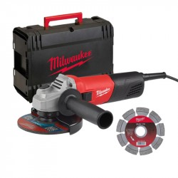 Kit smerigliatrice 800 W AG800-115E D-SET - inclusi valigetta e disco diamantato - MILWAUKEE 4933451281