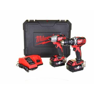 KIT 18V M18 BPP2I-402C - Trapano percussione + avvitatore impulsi - 2 batterie e valigetta incluse - MILWAUKEE 4933459036