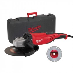 Kit smerigliatrice 2200 W AG22-230 D-SET - inclusi valigetta e disco diamantato - MILWAUKEE 4933440292