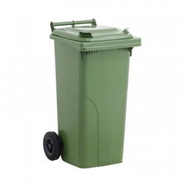 Bidone per rifiuti con ruote e coperchio - lt. 120 - JCOPLASTIC