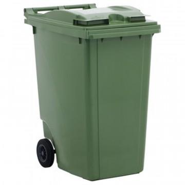 Bidone per rifiuti con ruote e coperchio - lt. 360 - disponibile in diversi colori - JCOPLASTIC