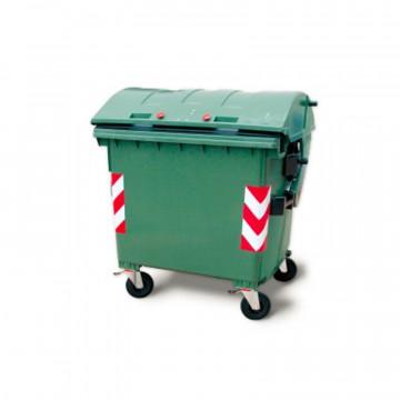 Cassonetto per rifiuti - lt. 1100 - con coperchio basculante - disponibile in diversi colori - JCOPLASTIC