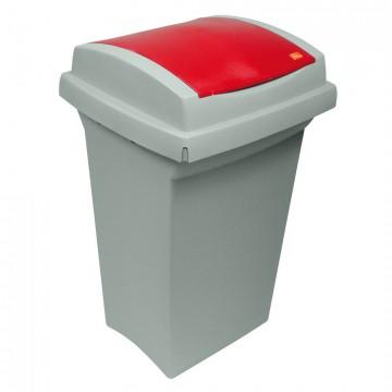 """Bidone per rifiuti """"recycling"""" - 50 lt. - grigio con coperchio disponibile in diversi colori - I.C.S. C852050"""