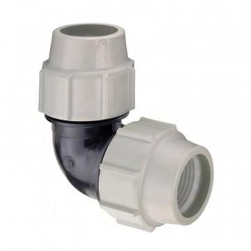 Curva gomito 90° per acquedotti, antincendio e altri fluidi in pressione - Ø 20 - PLASSON ITALIA 070500020