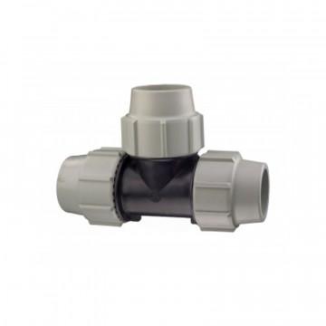 Ti a 90° per acquedotti e fluidi in pressione - Ø 32 - PLASSON ITALIA 070400032