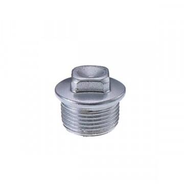 """Tappo maschio con quadro in acciaio zincato - Ø 1/2"""" - G.T. COMIS 1166678"""