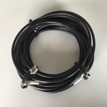 Fune plastificata nera 10 m, ⌀ 5 mm - doppio occhiello - MANIVER 43510