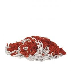 Catena segnaletica diametro 8 mm lunghezza 25 m - bianco/rosso - SISAS 909007004