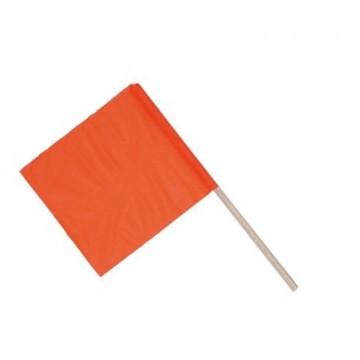 Bandierina in tela di nylon spalmata pvc Fluorescente colore Arancio fluo e con manico in