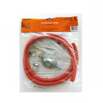 Kit regolatore gas + tubo da 150 cm + fascette - QLIMA G150