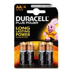 Confezione da 4 pile LR6/MN1500 Duracell Plus Power AA
