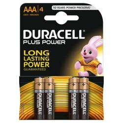 Confezione da 4 pile LR03/MN2400 Duracell Plus Power AAA