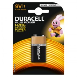 Confezione da 1 pila 6LP3146/MN1604 Duracell Plus Power 9V