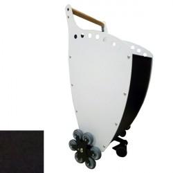 Trolley porta Legna/Pellet Superleggero colore ANTRACITE/ANTRACITE con KIT 6 RUOTE per scale - PANDA