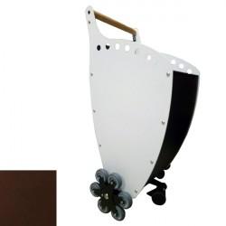 Trolley porta Legna/Pellet Superleggero colore ANTRACITE/RAME con KIT 6 RUOTE per scale - PANDA