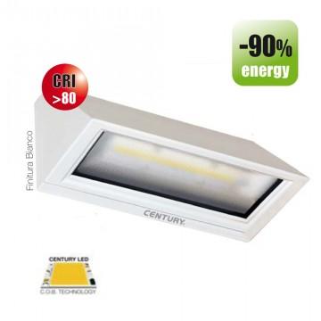 """Faretto da parete a LED CENTURY """"Pitagora"""" 6W 3000K PTB-061030 Bianco"""