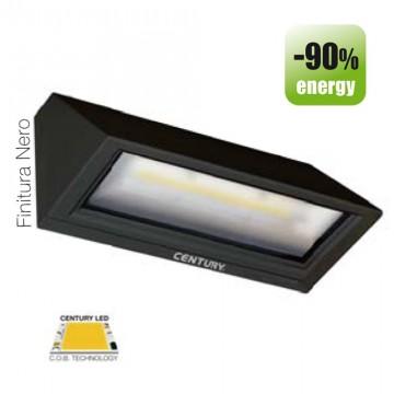 """Faretto da parete a LED CENTURY """"Pitagora"""" 6W 3000K PTN-061030 Nero"""