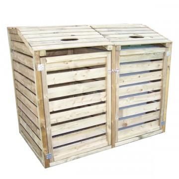 """Copri bidoni per la raccolta differenziata in Legno 150x90x120 h """"CP 15090"""" - FORESTA CP 15090"""
